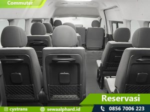 Interior Sewa Mobil Hiace Commuter